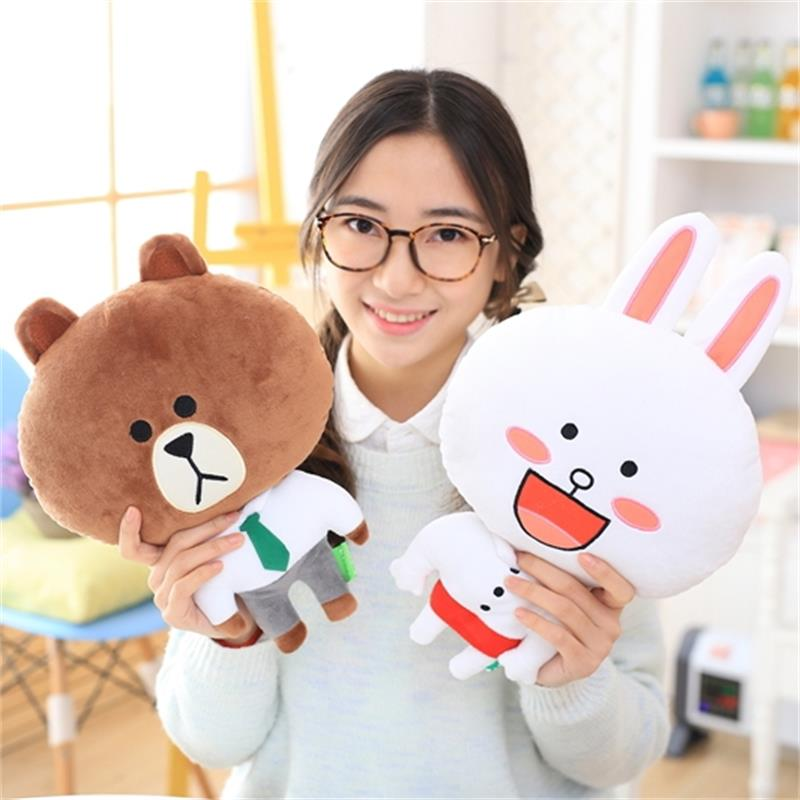 Bear Brown & Bunny Cony Neck pillow teddy bear toys for children Neck pillow toys for children Available in cars