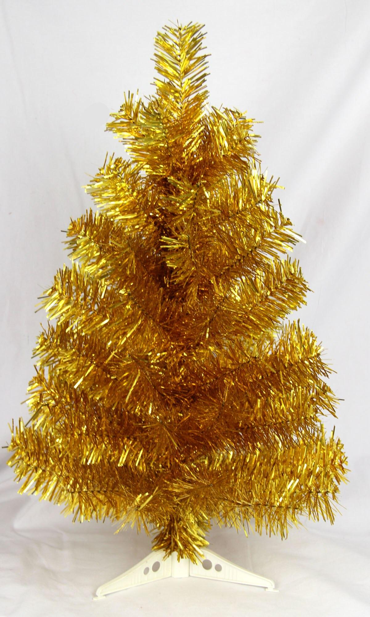 60cm gold christmas tree decoration christmas tree small swing ...