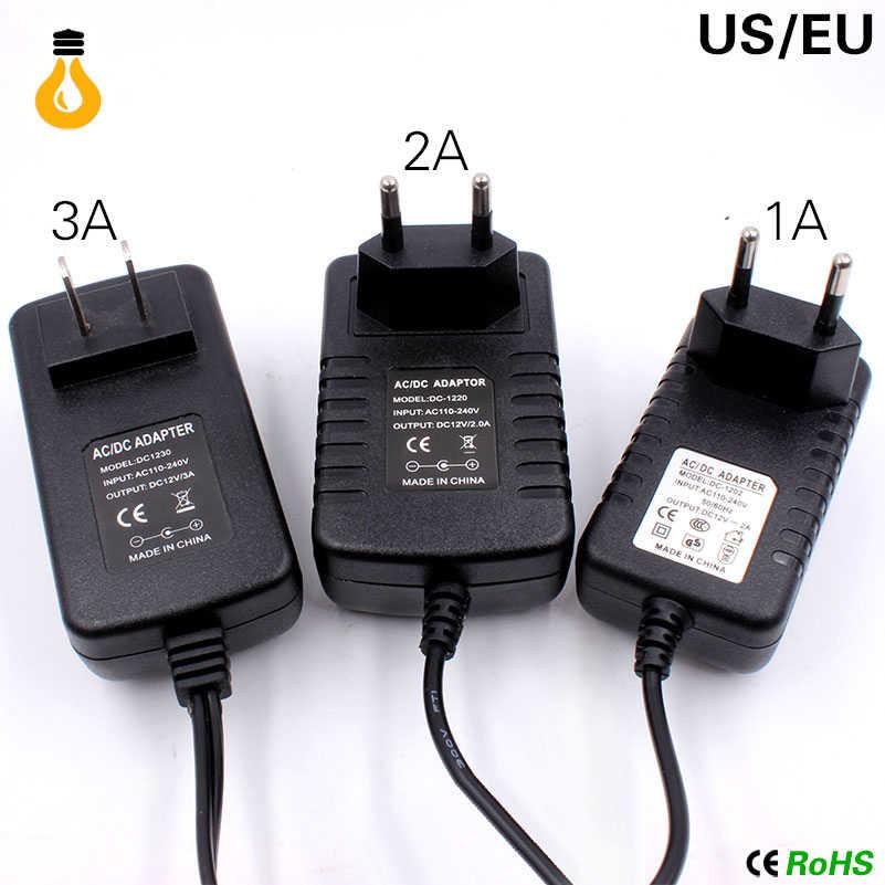 12V зарядное устройство 2A 24W Трансформаторы освещения 100 V-265 V AC to DC12V переключатель питания адаптер конвертер для RGB светодиодные ленты Драйвер