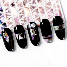 Mtssii Snakeskin 3D Nail Art Transfer Stickers Marble Stone Grid Nail