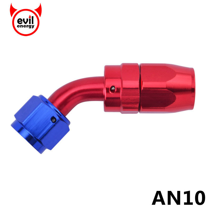 evil energy AN 10 Aluminium Fitting 45 Degree Swivel An Fitting Adapter Hose End Oil Fuel Reusable Fitting Oil Fuel Fitting цена 2017
