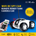 Wireless WiFi RC Spy Car Remote Moving Robot Tank IP Camera Smart Phone Remote Control Wireless Charging support TF Card 720P