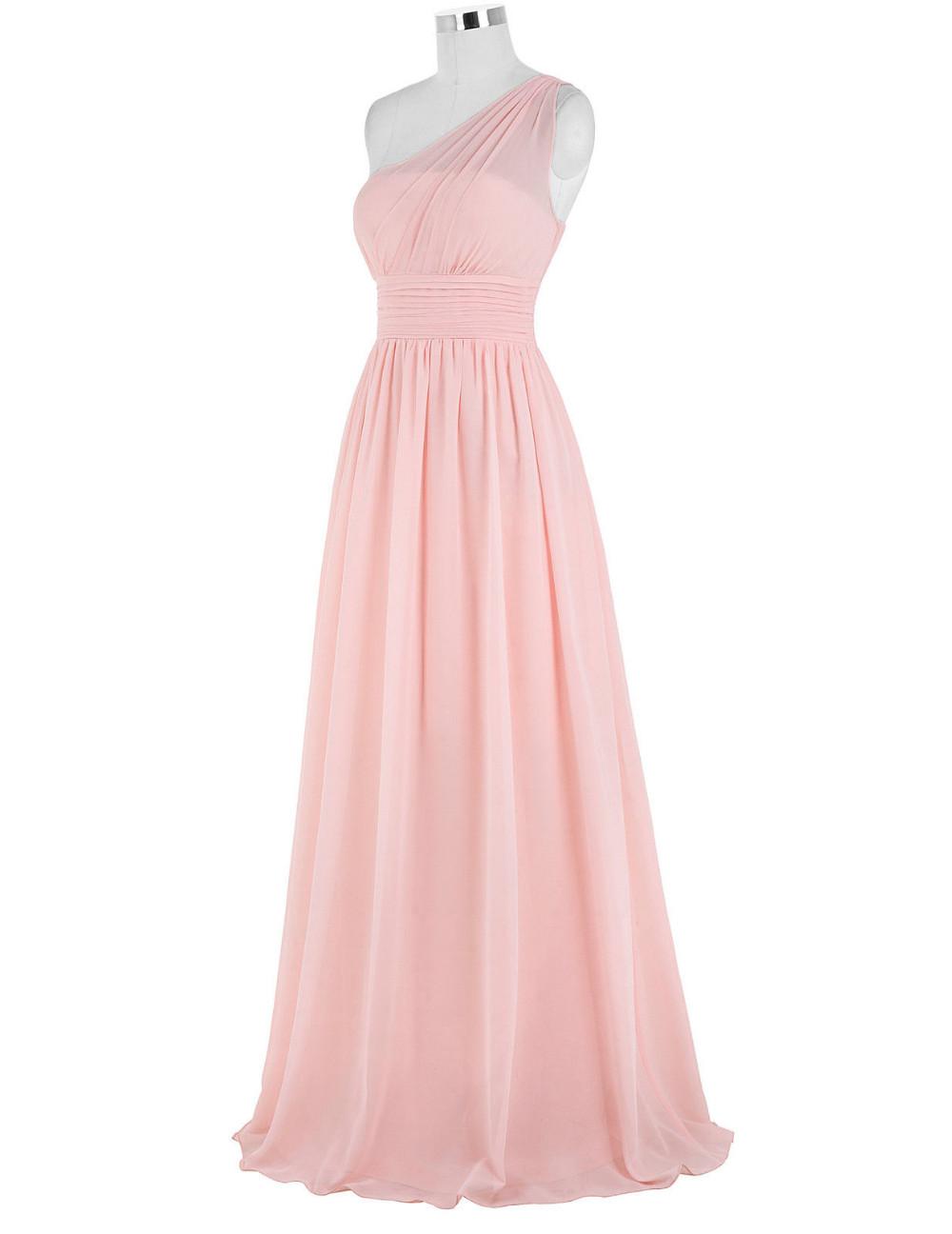 Kate Kasin Mint Green Bridesmaid Dresses Long Wedding Party Dresses One Shouler Bruidsmeisjes Jurk Pink Bridemaid Dress 0200 11