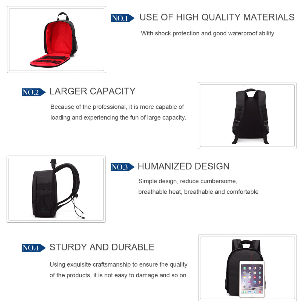 Professional Camera Backpack Waterproof for DSLR SLR Cameras Canon Nikon Sony and etc Tripods Flashes Lenses Accessories in Storage Bags from Home Garden