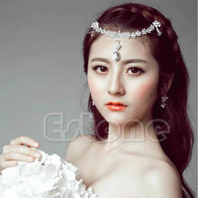 Women Rhinestone Head Chain Headband Hair Jewelry Prom Bridal Party Head Piece W715