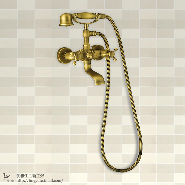 Ling Yu shower set telephone shower / retro Shower / antique copper ...