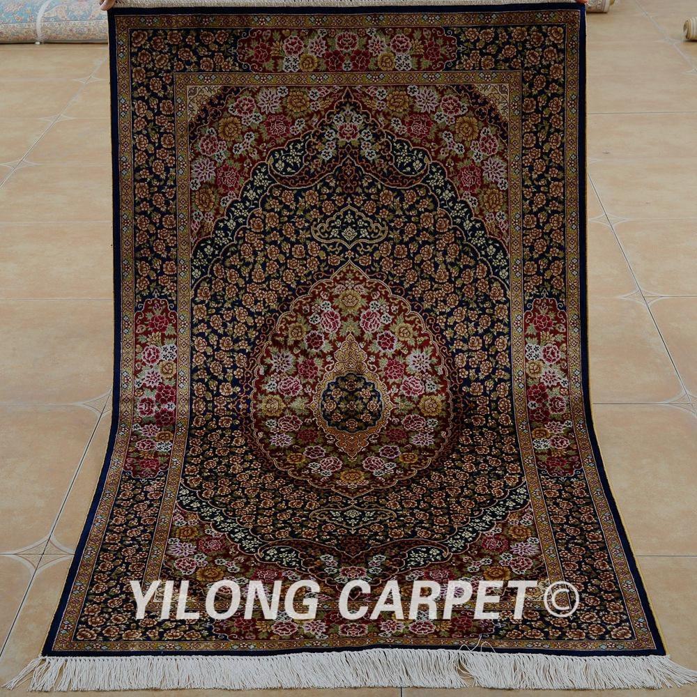 Traditional Kashmir Silk Handmade Hand Knotted Persian: Aliexpress.com : Buy Yilong 3'x5' Oriental Kashmiri