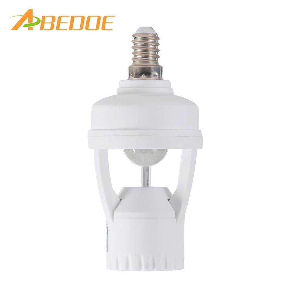 Us 6 96 45 Off New 360 Degrees B22 E14 Plug Socket Switch Base Light Lamp Pir Induction Motion Sensor Ir Infrared Human Led Bulb Holder In