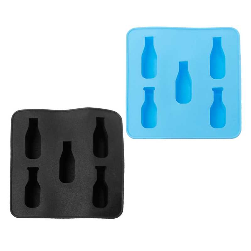 Beautiful workmanship Mini Beer Wine Bottle Shape Silicone Mold DIY Ice Cube Mould Tray Ice Cream Tool