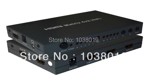 ibay-412H,HDMI matrix switch,Free shipping,Factory provide,HDMI switch! 4*2port,4 ports input 2 output,EU plug