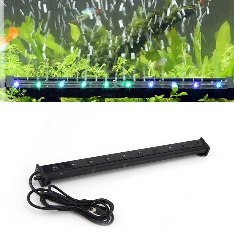 1 ШТ. Fish Tank Аквариум Лампы Подводный Популярных RGB <font><b>LED</b></font> Аквариум Fish Tank Погружные Огни Воздушный Пузырь Лампа <font><b>Acquario</b></font> Accessori