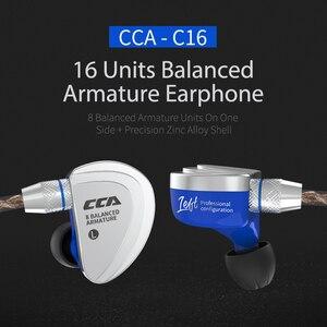 Image 3 - CCA C16 8BA Drive Units In Ear Earphone HIFI Monitor earphone Headset 8 Balanced Armature Detachable Detach 2Pin Cable PK C10