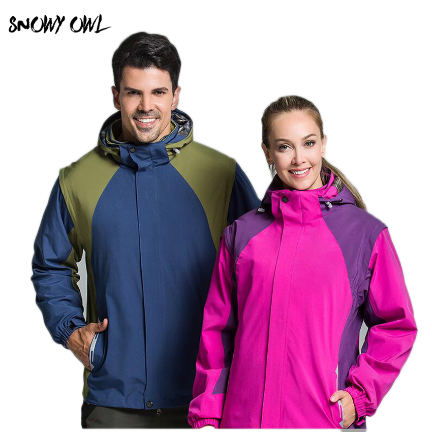 2018 New Hot sale Lover Couple Outdoor Sport 6in1 Water/Windproof Skiing Mountaineering Jackets h320 free shipping new hot sale winter lover couple outdoor sport 3in1 twinset water windproof skiing mountaineering jackets 160d321d