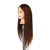 "Profesional 35% Natural del pelo humano 22 ""long Maniquí Cabeza de Formación de Peluquería Cabeza de Maniquí con abrazadera del soporte"