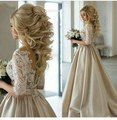 Gorgeous Lace Appliques A-line Pearls Wedding Dresses 2017 Sexy See through Floor Length Robe De Mariee Wedding Party Gowns