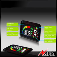 Car Blind Zone Detection kit with HUD with 4 front bumper sensor with 2 BSD covering mirror blind spot