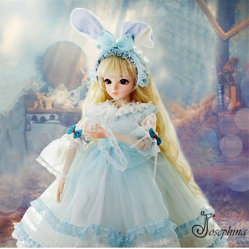 S5 -- Laura 1/3 josephina-doris SD BJD poupées mystérieuse princesse fée bleue avec des vêtements de maquillage chaussures et perruque meilleur cadeau de fille nouveau