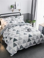 Bedroom Bed Clothes Geometric Printed Bedding Sets