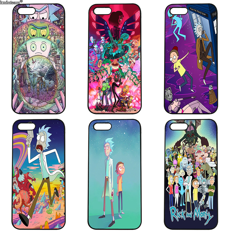 Rick and Morty Mobile Phone Case Hard Anti-knock Cover Fitted for iphone 8 7 6 6S Plus X 5S 5C 5 SE 4 4S iPod Touch 4 5 6 Shell
