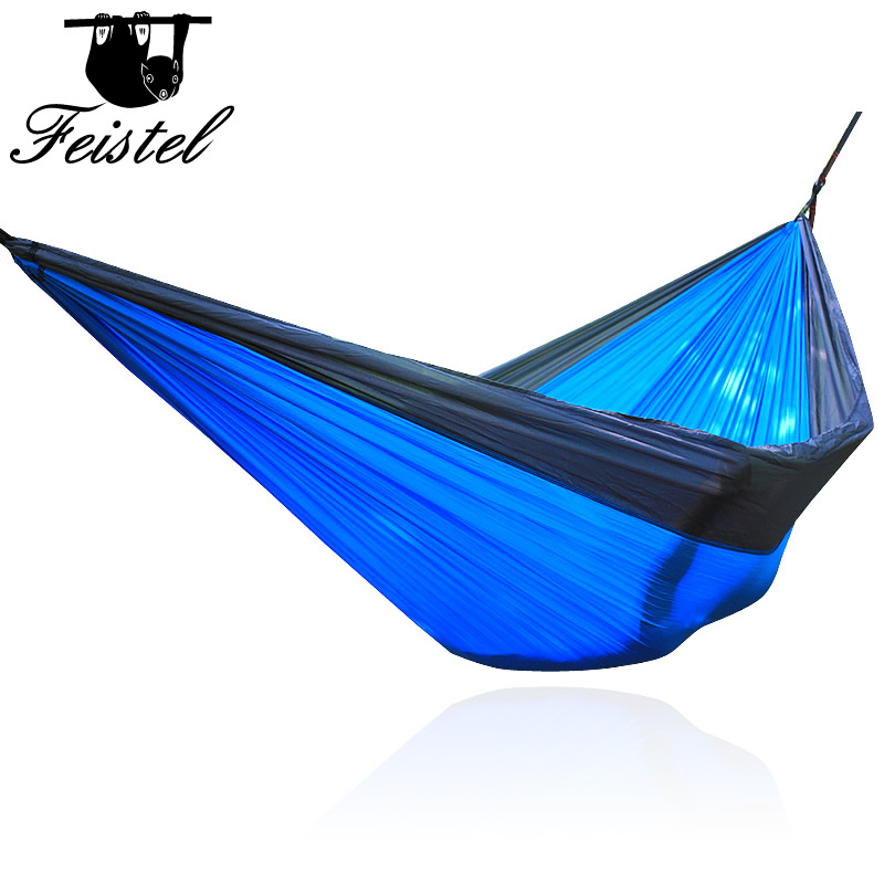 328 Promotion Hammock 2 Person 300*200 CM High Strength Camping 210T Parachute Hammock Hanging Bed