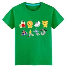 2016 Summer Boys T Shirt Aircraft & Lion & Kitten & Dog & Truck Cartoon kids clothes boys t shirt tops children Clothes Tees