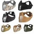 Airsoft Tattico Fan Esercito Camuffamento Gioco Maschera di Pollo Nuovo tattico mezzo viso metal acciaio сетка maschera 2019