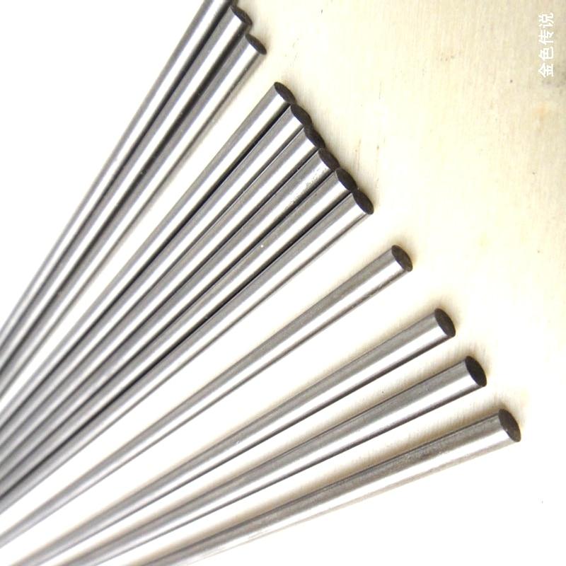 2Pcs 3mm Dia DIY Model Stainless Steel Round Rod Bar 200mm Long