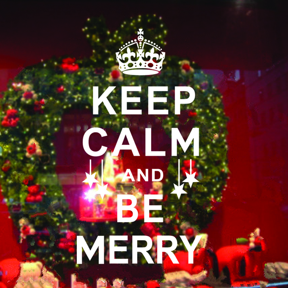 Christmas Decorations Mural Keep Calm And Be Merry Christmas ...
