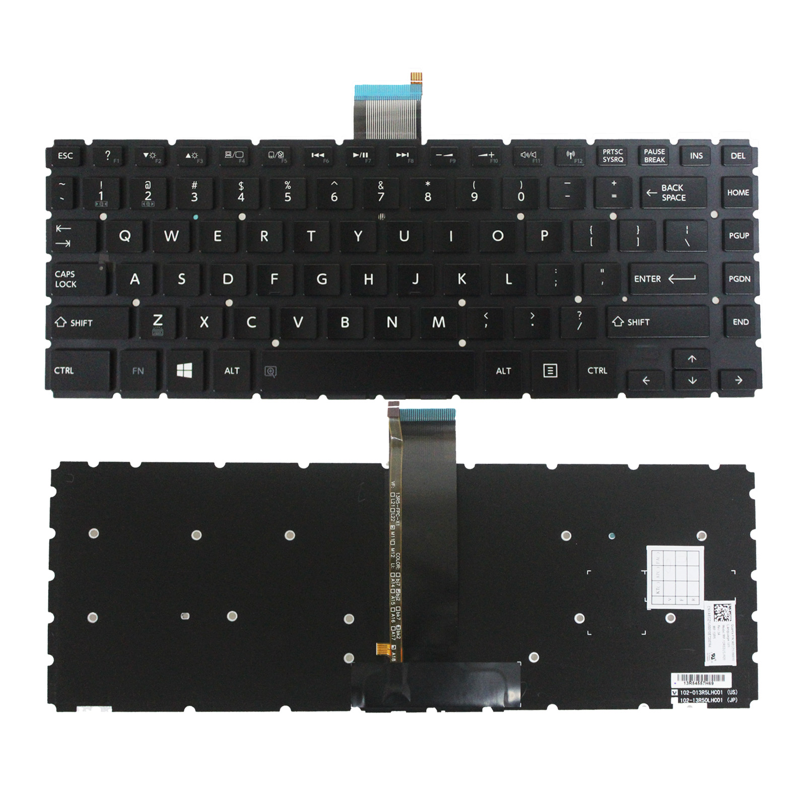 backlit Keyboard Toshiba Satellite Radius  E45W-C E45W-C4200X