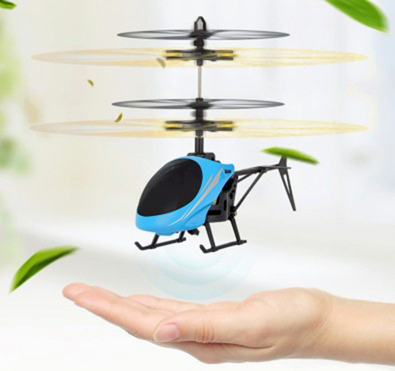 Mini RC font b drone b font Flying RC Helicopter Aircraft dron Infrared Induction LED Light