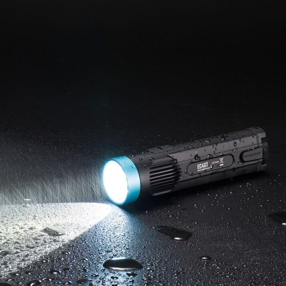 2019 NITECORE 1000 Lms излучатель фонарик Фонарь Лампа EC4GT Ограниченная серия удобный портативный Diver 2x18650 батареи Бесплатная доставка - 3