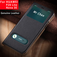 For Huawei P20 Lite Case Flip Cover New Luxury Genuine Leather Cover For Huawei Nova 3e