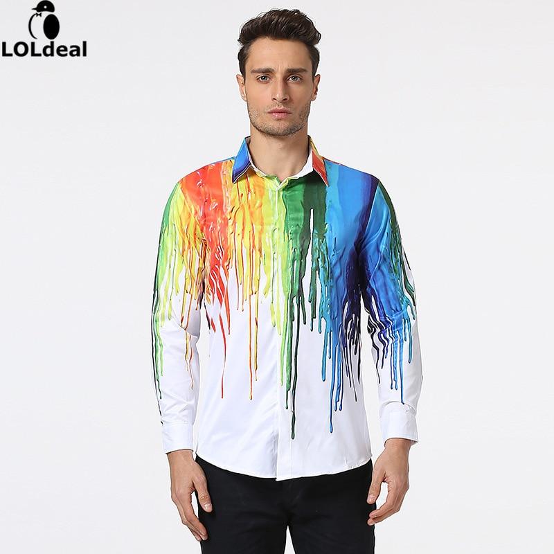 Këmisha të shtypura me këmishë të reja 3D Loldeal Burra - Veshje për meshkuj - Foto 2