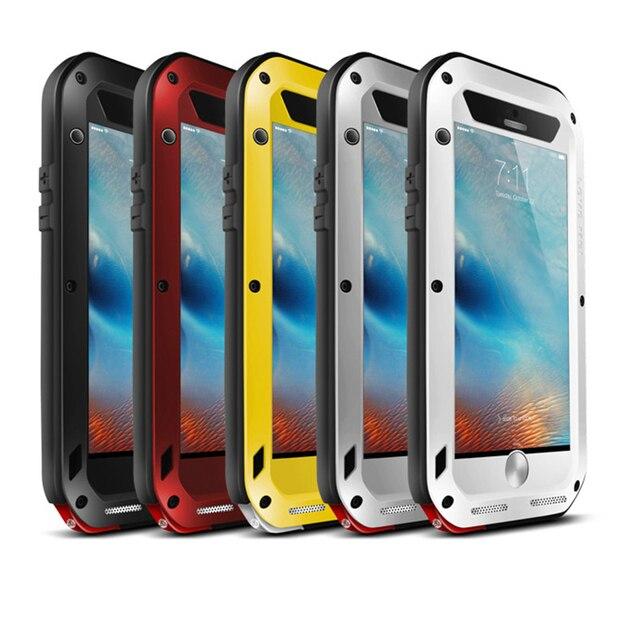 Love Mei Powerful Waterproof Shockproof Aluminum Case Cover For Apple iPhone 6 6S 4.7/6 Plus/6S Plus 5.5 Gorilla