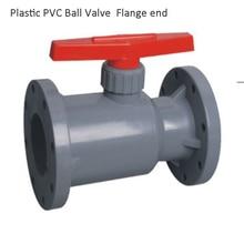 DN15 PVC Plastic Ball Valve, PVDF Ball Valve, UPVC Plastic Ball Vale, CPVC Ball Valve Flange end