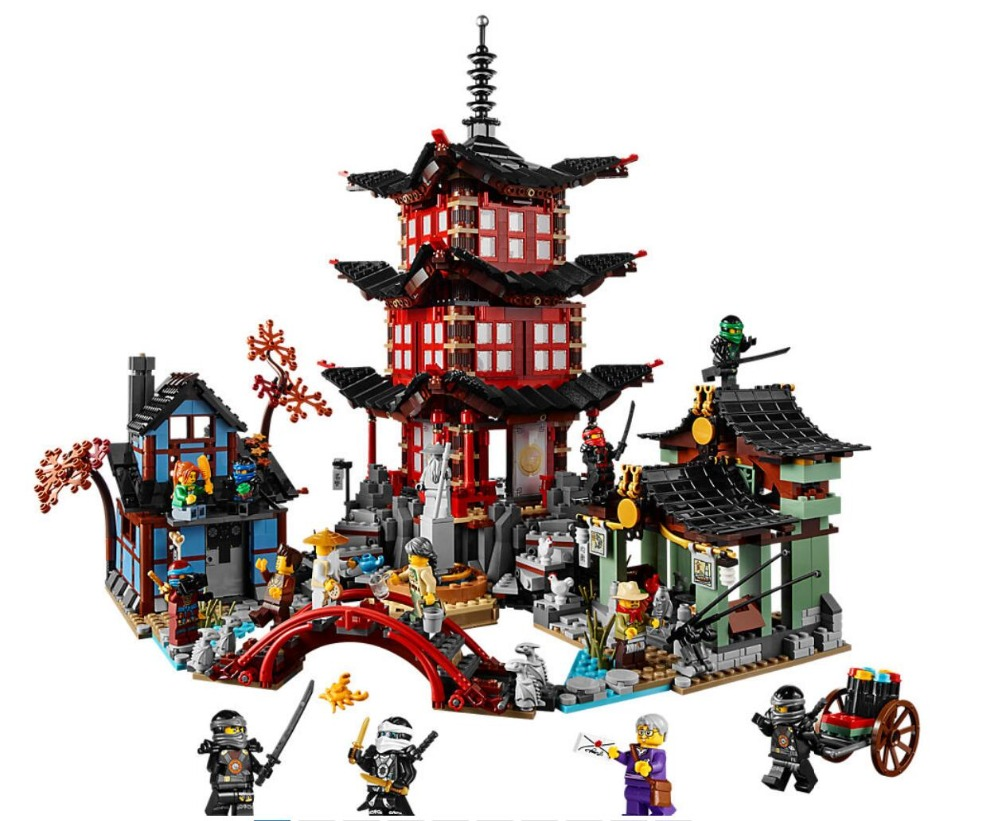 Bela 10427 Ninjagoes Series 70751 Temple of Airjitzu Building Blocks 2051pcs Bricks Model Toys Compatible With Legoings 1326pcs ninjaos temple of ninjagoes blocks set toy compatible with legoings ninja movie building brick toys for children