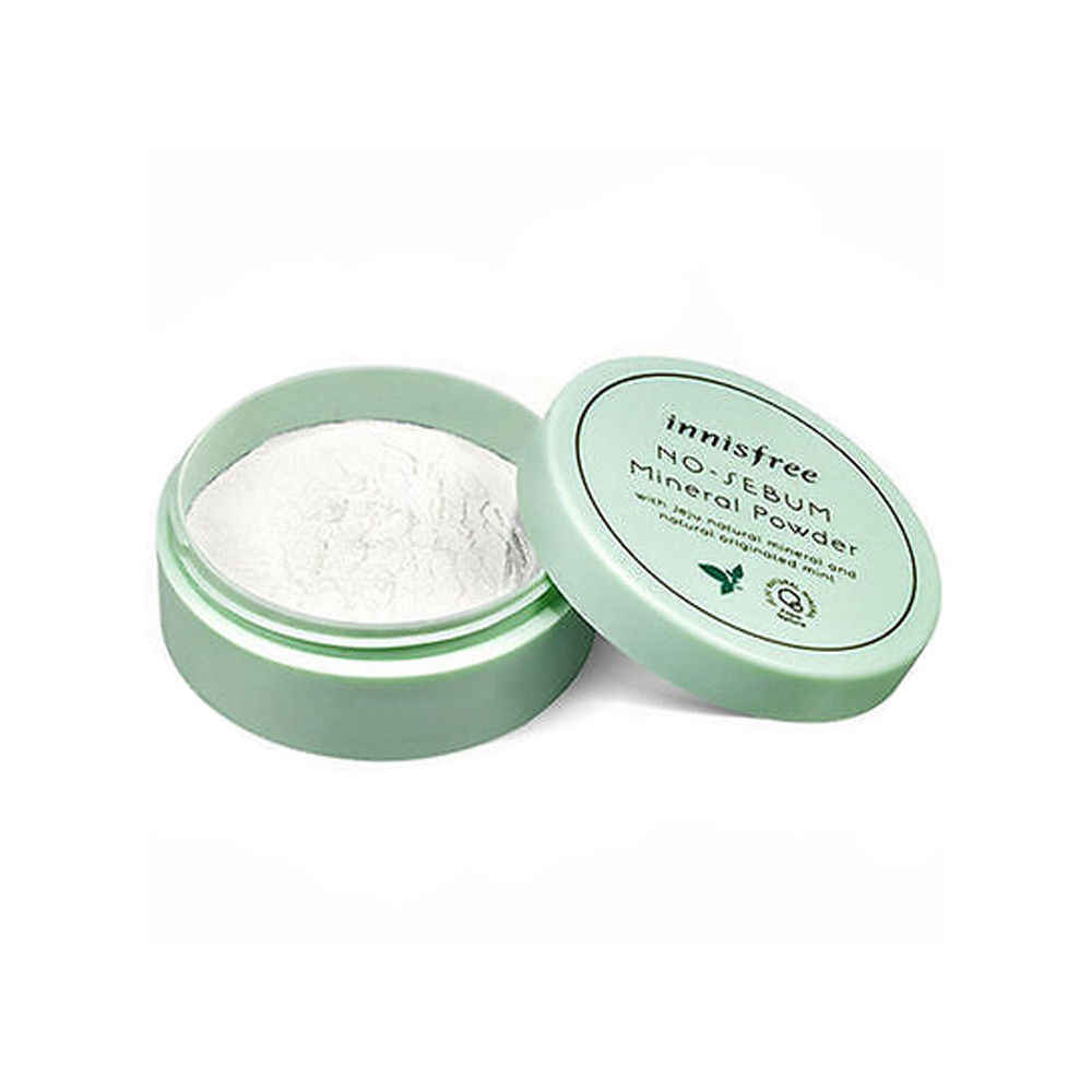 Hiçbir Sebum Mineral Tozu 5g Yüz Toz Mineral Temelleri Yağ kontrol Aydınlatmak Kapatıcı Beyazlatma Makyaj Kore Kozmetik