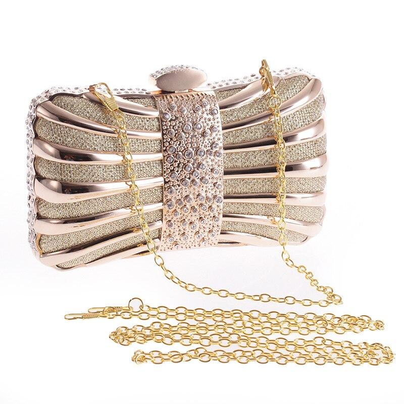 2018 nouveau sac à bandoulière en or pour femmes sac de soirée de mariage de mariée pochette sac à main de mode sac à main de fête sac de maquillage XST158