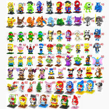 2016 New 30pcs/lot Ninja Turtle The Avengers Super Mario Despicable Me Intelligence Educational Toys LOZ Diamond Building Blocks