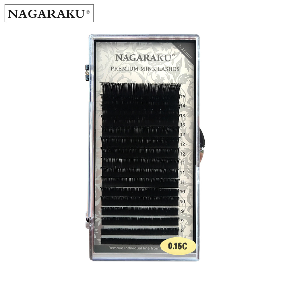 fdbbaecd75b NAGARAKU Mixed In One Tray Eyelash Extension Individual Faux Mink Eyelash  soft False