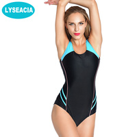 LYSEACIA Plus Size Sports Swimwear Sexy One Piece Swimsuit Push Up Racerback Swimming Suit For Women