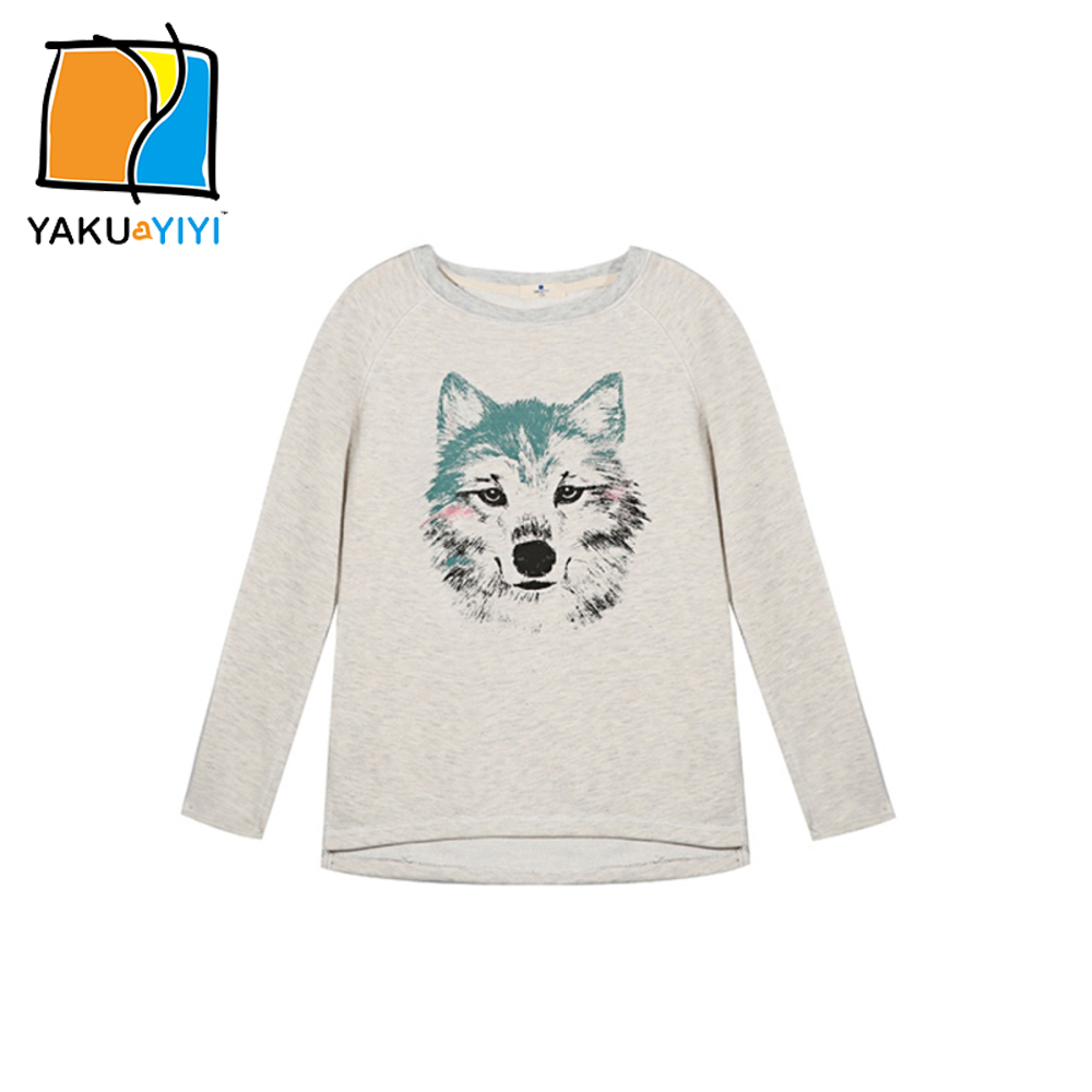 ef3fe098ab1f YKYY YAKUYIYI New Girls Sweatshirt Sweet Wolf Head Print Baby Girl ...