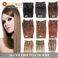 Clip in Human Hair Extensions Blonde Human Hair Clip In Extensions 70g-120g Black Brown Platinum Blonde Remy Human Hair Clip In