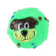 Squeaky Dog Face Rubber dog toy