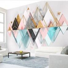 3d металлические стеклянные стерео геометрические треугольные
