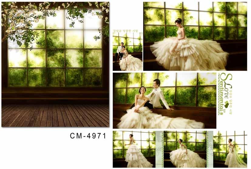 300*200 cm printemps vert photographie fond lumineux fenêtres mariage photo décors avec rétro bois plancher photo studio accessoires