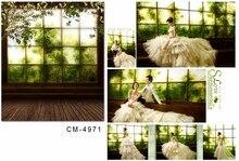 300*200 cm primavera verde painéis fotográficos de casamento fotografia fundo janelas brilhantes com retro piso de madeira estúdio de fotografia adereços