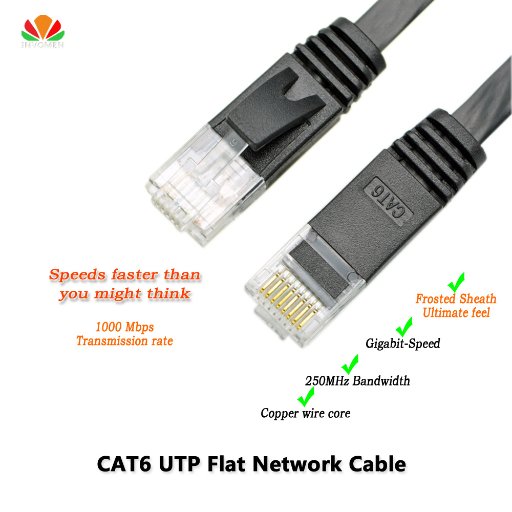 16ft 5m CAT6 Ethernet cable flat UTP CAT6 network cable Gigabit Ethernet Patch Cord RJ45 network twisted pair GigE Lan cable cat6 ethernet cable flat utp cat6 network cable gigabit ethernet patch cord rj45 network gige lan cable 2m 5m 10m 20m