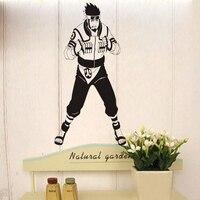 Наруто виниловые наклейки японский мультфильм наруто старший возраст мальчики фреска стены термоаппликации детские спальни декоративные ...