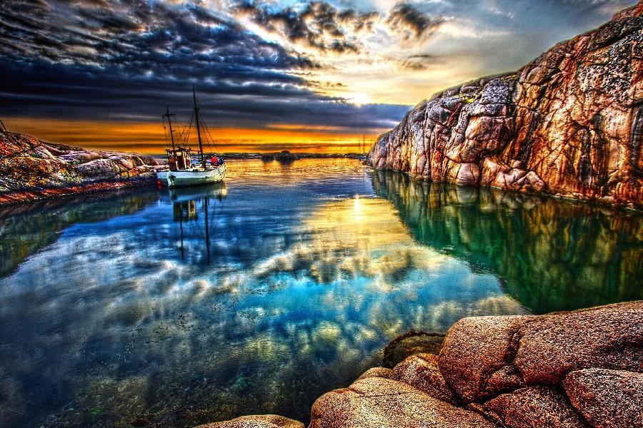 landscape ship scenery